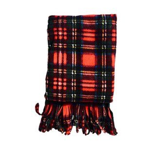 Infant Swaddle in Red Plaid Fleece